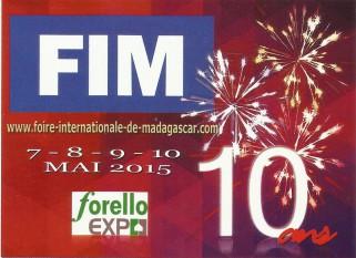 Participation à la FOIRE INTERNATIONALE DE MADAGASCAR 2015